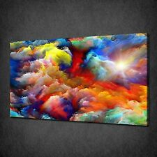 "Framed 12X18"" Home Decor Canvas Print Wall Art Painting Colorful Cloud"