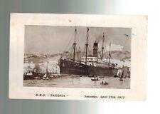 1949 Point Barrow Alaska 1912 RMS Saxonia  Ship RPPC Real Photo Postcard Cover