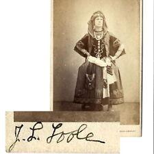 More details for 1863 cvd jl toole in drag verdi il trovatore burlesque theatre photograph opera