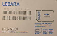 Lebara Carte sim prépayée lebara mobile 4G