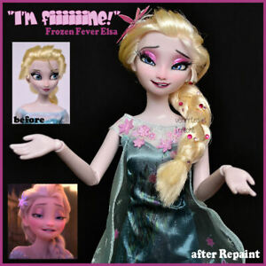 OOAK Frozen Fever Elsa doll custom doll limited to 1 worldwide repaint face up
