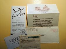 Chalfonte-Haddon Hall Hotel Atlantic City New Jersey vintage paper lot 1949