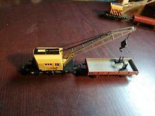 Märklin 4671 Kranwagen Gelb mit Zusatzanhänger