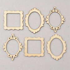 10pcs 3 Wood Frame Craft Shapes Craft Supplies Embellishments Cutouts DIY