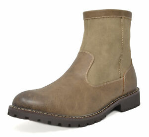 Bruno Marc Mens  Faux Fur Lined Winter Chelsea Dress Casual Side Zip Ankle Boots