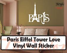 Paris Eiffel Tower Love Wall Expressions Vinyl Sticker