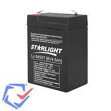 Gel Akku AGM Batterie 6V 4,5Ah Gelakku Ersatzakku CSSB Wartungsfrei Starlight