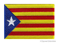 CATALONIA SECESSION FLAG embroidered iron-on PATCH CATALUÑA CATALUNYA SPAIN