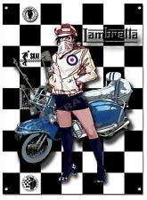 LAMBRETTA MOD GIRL HIGH GLOSS FINISH METAL SIGN,MODS AND ROCKERS,