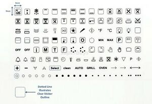 119 Custom Oven Symbols Replace Adhesive Knob Sticker Label Decal Stove Cooktop