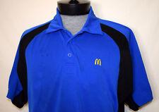 McDonalds Employee Uniform Blue Black Medium Polo Work Shirt Apparel Collection