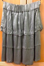 ♥ NEW Eclipse Grey Satin Suede Skirt S