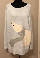 Lauren Conrad Soft Blue Polar Bear Sweater. Ladies XXL. Orig Price $50