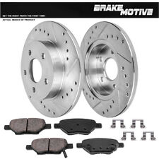 Fits Chevrolet Saturn Malibu Ion Rear Blank Brake Rotors+Semi-Met Brake Pads