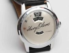 vintage Louvic Swiss Jump-Hour Digital Read Mens Wristwatch - NEAR MINT w/ BOXES