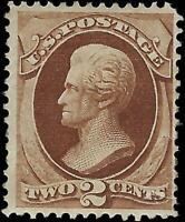 VEGAS - 1873 USA Sc# 157 2c Jackson Mint Partial Gum - Small Tear - EH2