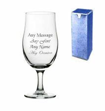 Personalised Engraved 13oz Stemmed Allegra Pint Cider Beer Glass