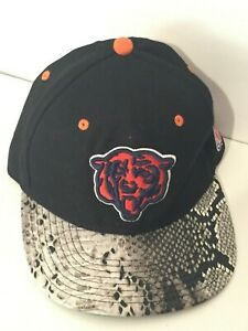 Chicago Bears NFL Football Team Reptile Skin Mitchell & Ness Snapback Cap Hat