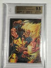 1992 Marvel Masterpieces Wolverine Vs Sabretooth 3-D BGS 9.5 Gem Mint