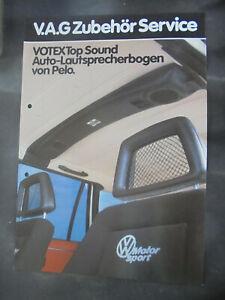 Prospeskt Sales Brochure V.A.G Zubehör Service Votex Top Sound Lautsprecherbogen