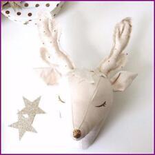 Wall Mount Stuffed Soft Toy Animal Deer Head Bedroom Decoration Christmas Gift