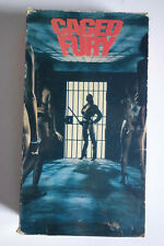 Rare CAGED FURY Women In Prison Exploitation Wild Over the Top WIP VHS Video