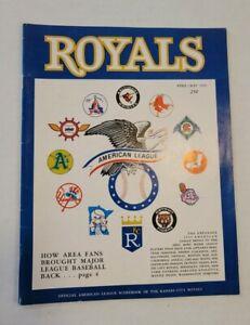 1969 KANSAS CITY ROYALS vs St Louis Cardinals INAUGURAL YEAR BASEBALL PROGRAM