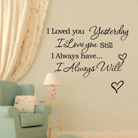 DIY Home I Love You Quote Decor Removable Decal Room Wall Sticker Vinyl Art  hs