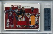 2001-02 BAP Ultimate Active 8 Triple Jersey Roy / Vernon / Barrasso 3/30