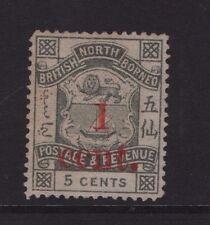 North Borneo SG 64 1892 1c  on 5c Slate Mint no Gum