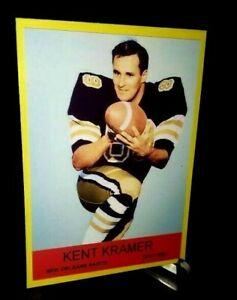 New Orleans Saints Kent Kramer 1967 style Custom Handmade Card Blank back