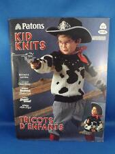 PATONS PATTERN BOOK KID KNITS 517 KNITTING SWEATERS CARDIGANS BOYS GIRLS