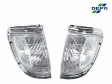Depo Front Chrome & Clear Corner Lights Lamps Fit For 95 96 Toyota Tacoma 2Wd