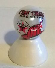 TEXACO FIRE CHIEF GASOLINE LOGO ON WHITE PEARL MARBLE