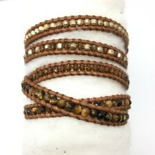 NWT Chan Luu Mix Brown Leather  Wrap Bracelet
