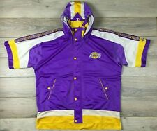 Los Angeles Lakers Vintage Champion Rare Warm Up Jacket  NBA Basketball size XL