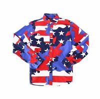 Ralph Lauren Men Shirt Blue 2XL Oxford Camo Classic-Fit Button Down $125 131