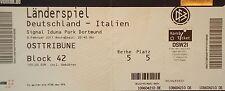 TICKET 9.2.2011 Deutschland - Italien in Dortmund