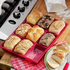 Silicone Nonstick Mold 9 Cup Muffin Cake Bread Baking Desserts Tools Bakeware