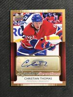 2014-15 UPPER DECK SERIES ONE CHRISTIAN THOMAS SIGNATURE SENSATIONS AUTO #SS-CT