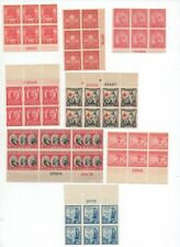 United States mint no gum MNG plate block of 6 lot 645//734