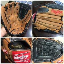 "Rawlings 12"" Leather Baseball Softball Outfield Glove Premium Series D120BB"
