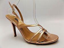 Kay Unger New York CANCAN K-Y SANDALS BRONZE Heels Shoe Womens SZ 9.5 M NEW 3445