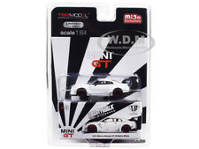 NISSAN GT-R (R35) LB WORKS MATT WHITE LTD ED 1/64 DIECAST CAR BY TSM MGT00009