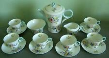 "SHELLEY FINE BONE CHINA COFFEE SET ""WILD FLOWER'S  VERY RARE"