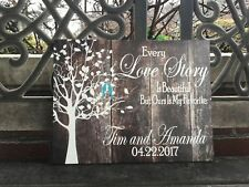 Custom Wedding Canvas, Personalized FREE, Love Birds, Beautiful Gift