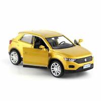T-ROC SUV 1/36 Die Cast Modellauto Spielzeug Kinder Sammlung Pull Back Gold