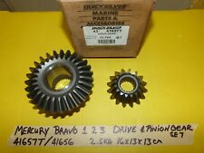 MERCRUISER BRAVO X ONE TWO THREE I II III 1 2 3 DRIVE PINION GEAR SET GEARS
