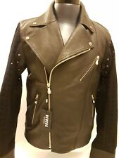 VERSUS VERSACE leather biker jacket size52 XL In  black BU50127 BP00125 B1008