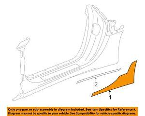 NEW OE GM Rear Right Stone Deflector Clear Film 22972282 Corvette Stingray 14-19